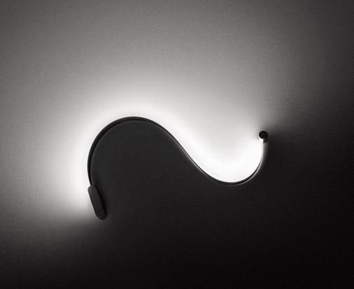 Biegsame Wandleuchten für Licht und Schatten