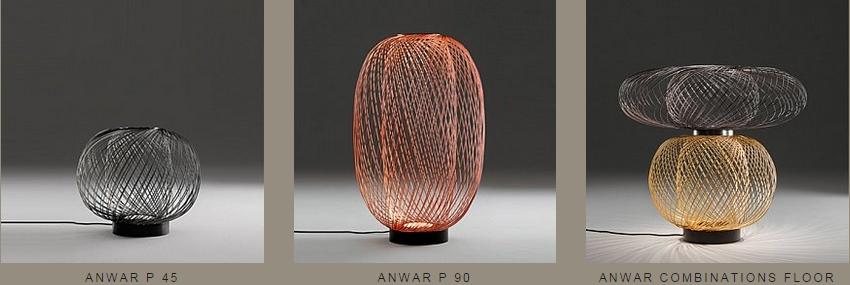 Stehleuchten der Anwar T Leuchtenkollektion von Parachilna
