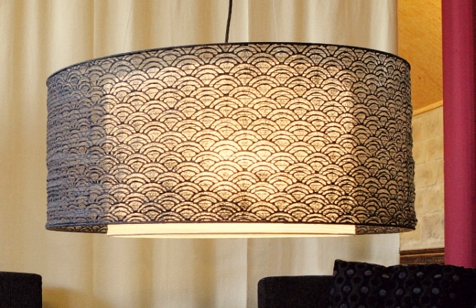 japanische deckenleuchte aus echtem gesch pften papier. Black Bedroom Furniture Sets. Home Design Ideas