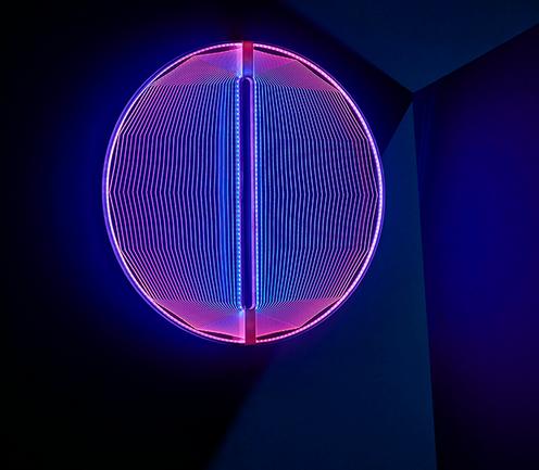 moderne Lichtskulptur