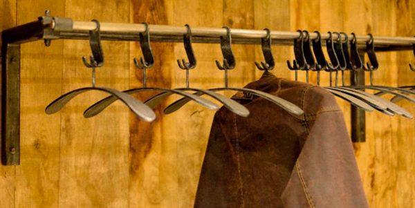 Schmiedeeiserne Garderobe