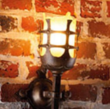 |Kleine Antike Wandfackel-Leuchte