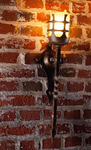 Kleine Antike Wandfackel-Leuchte