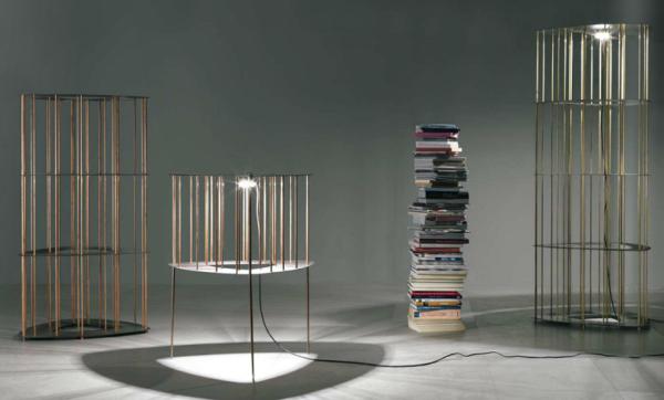 Design-Bücherleuchten in Messing oder Kupfer