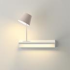 Originelle Wandlampe Regal mit 2 Leuchtquellen