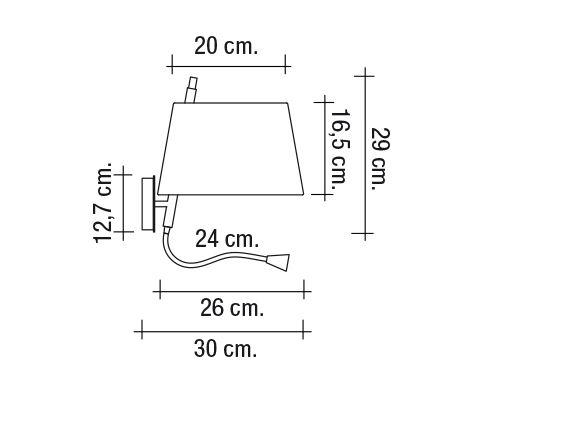 Strahler und Wandlampe mit Schalter Abmessungen