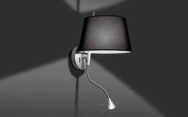 Strahler und Wandlampe mit Schalter