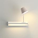 Wandlampe Regal mit 2 Leuchtquellen