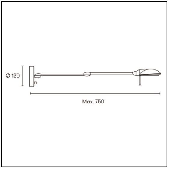 Wandlampe mit Schalter schwenkbar Maße
