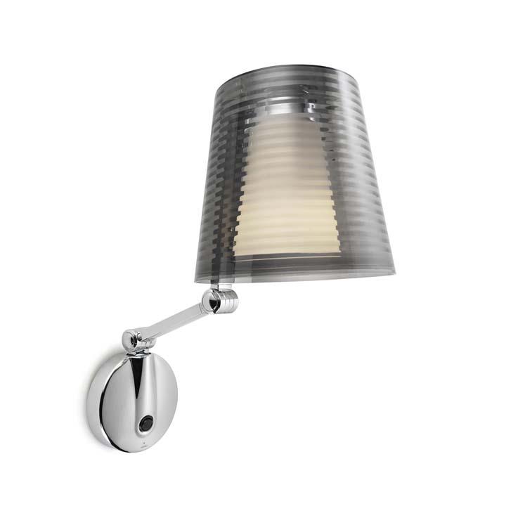 elegante Wandlampe mit Schalter