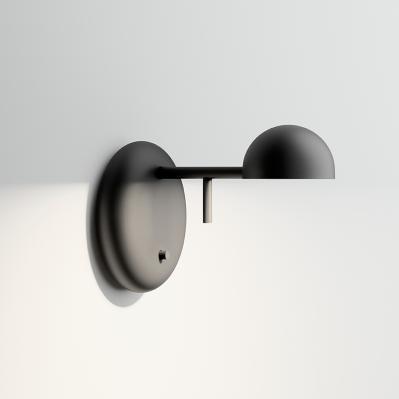 moderne Wandlampe mit Schalter schwarz