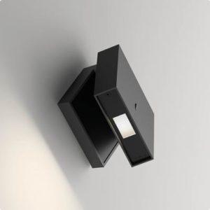 quadraische Wandlampe mit Schalter