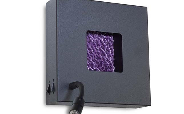 schwarze quadratische Design Wandlampe mit Schalter