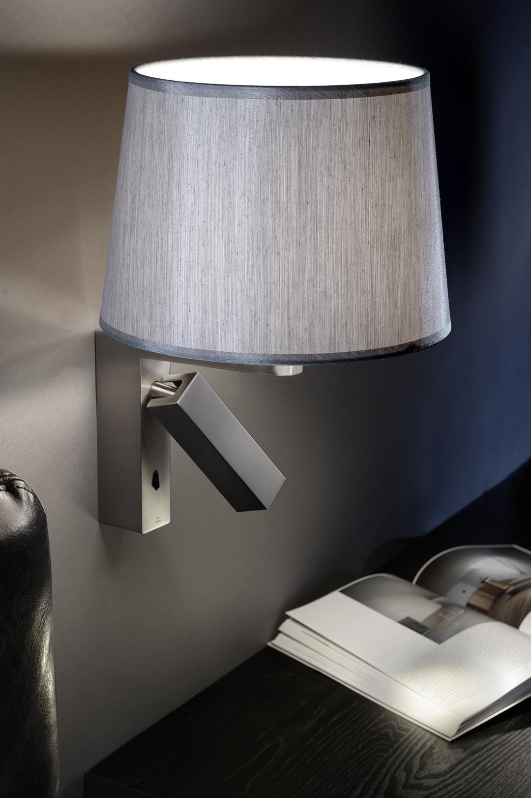 sehr vielseitige Wandlampe mit Schalter