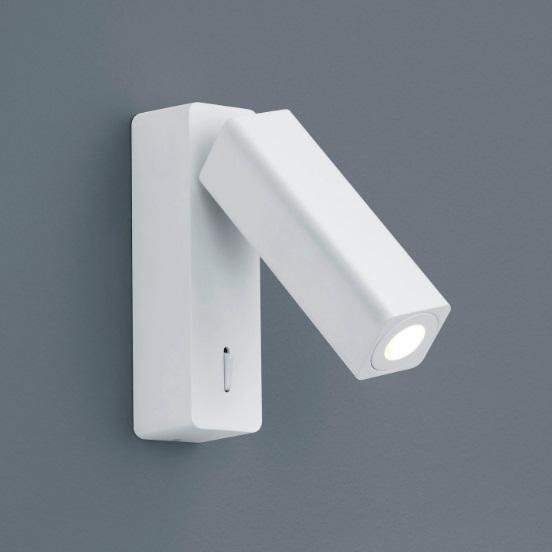 weiße Nachttisch Wandleuchte mit Schalter