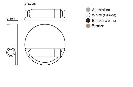 Abmessungen Aufbau LED Wandstrahler schaltet beim einklappen