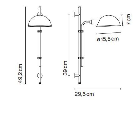 die h henverstellbare wandlampe weiss mit schalter ist eine funktionelle leuchte. Black Bedroom Furniture Sets. Home Design Ideas