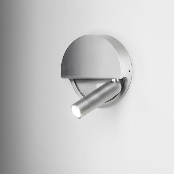 Aufbau LED Wandstrahler Alu schaltet beim einklappen