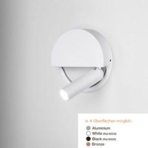 Aufbau LED Wandstrahler weiß schaltet beim einklappen