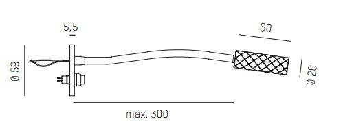 Einbau Wandspot mit Schalter und fokussierbarem Lichtkegel
