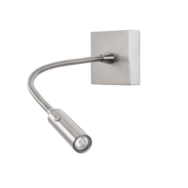 die flex wandlampe mit schalter im kopf passt sich jeder umgebung an. Black Bedroom Furniture Sets. Home Design Ideas