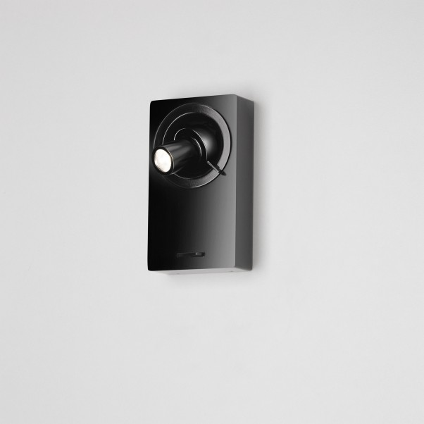 Schwarze Wandleuchte LED Strahler mit Schalter