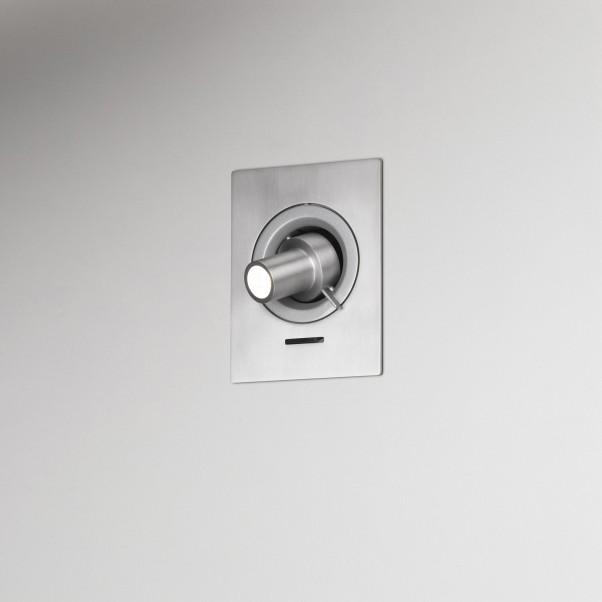 Silber graue Einbau Wandleuchte LED Strahler mit Schalter