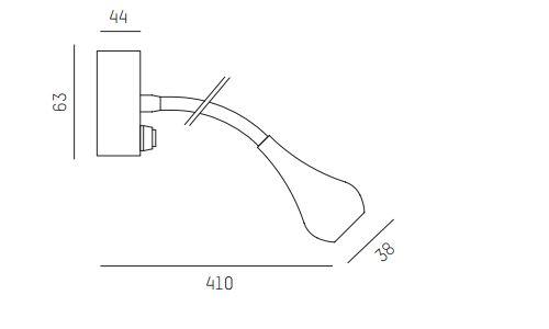 flexible Led Aufbau Leseleuchte Wandleuchte mit Schalter