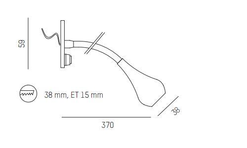 flexible Led Einbau Leseleuchte Wandleuchte mit Schalter