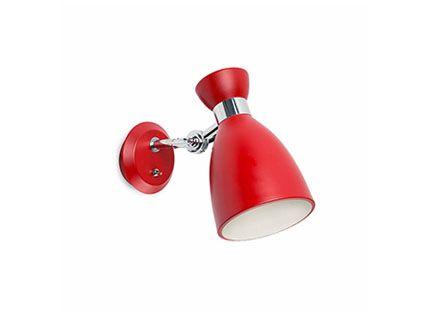 rote retro wandlampe mit schalter als attraktive zusatzbeleuchtung. Black Bedroom Furniture Sets. Home Design Ideas