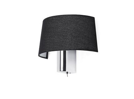 schwarz chrom Wandlampe mit Schalter