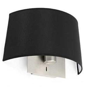 schwarze Faro Volta Wandlampe mit Schalter
