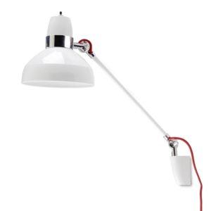 weiss chrom Schwenk Wandlampe mit Schalter