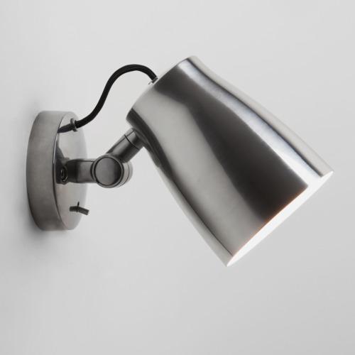 Aluminium Atelier Wandleuchte mit Schalter