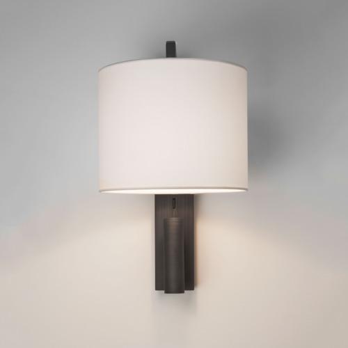 polierte chrom wandleuchte mit leselampe und schalter. Black Bedroom Furniture Sets. Home Design Ideas