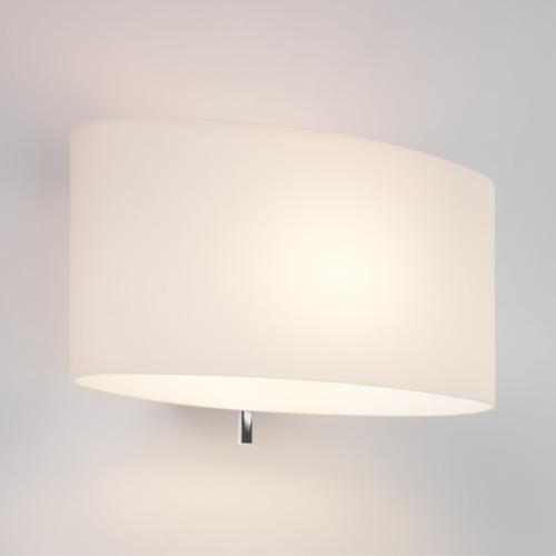 Ovale Milchglas Wandlampe mit Schalter