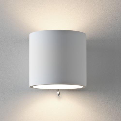 Runde Wandlampe mit Schalter zum uebermalen