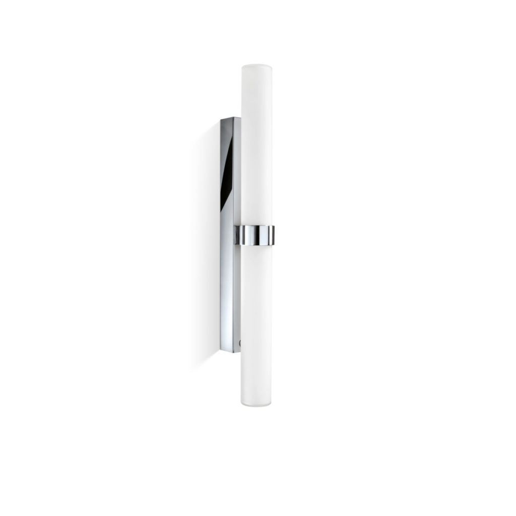 seitliche spiegel wandlampe chrom glas mit dimmer 70 cm. Black Bedroom Furniture Sets. Home Design Ideas