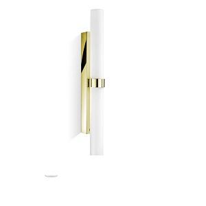 Seitliche Spiegel Wandlampe Gold Glas mit Dimmer 70 cm