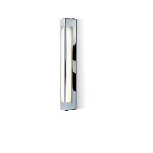 Seitliche Spiegelwandleuchte chrom mit Steckdose und Schalter oder Dimmer