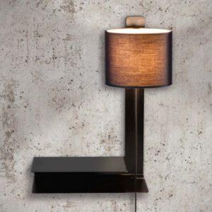 Steng Loft Stripe Wandlampe mit Schalter und Ablage