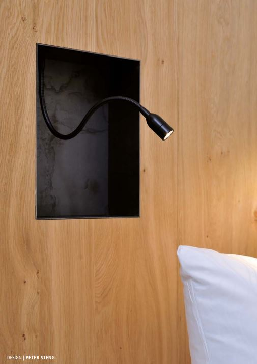 Steng Wand Sonderleuchte mit Schalter am Bett