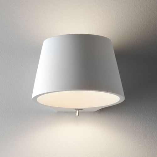 streichbare Wandlampe mit Schalter