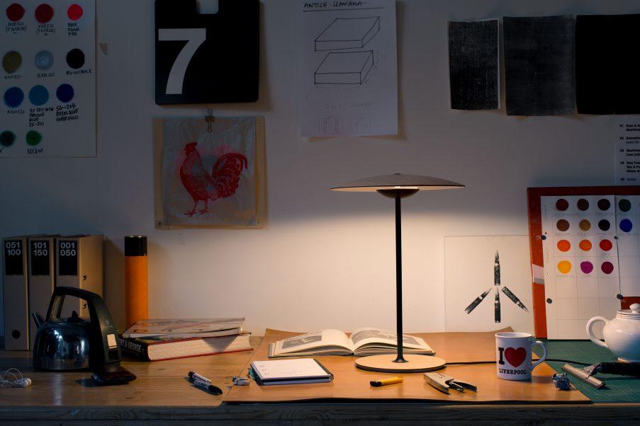 moderne Holz Tischleuchte Schreibtisch