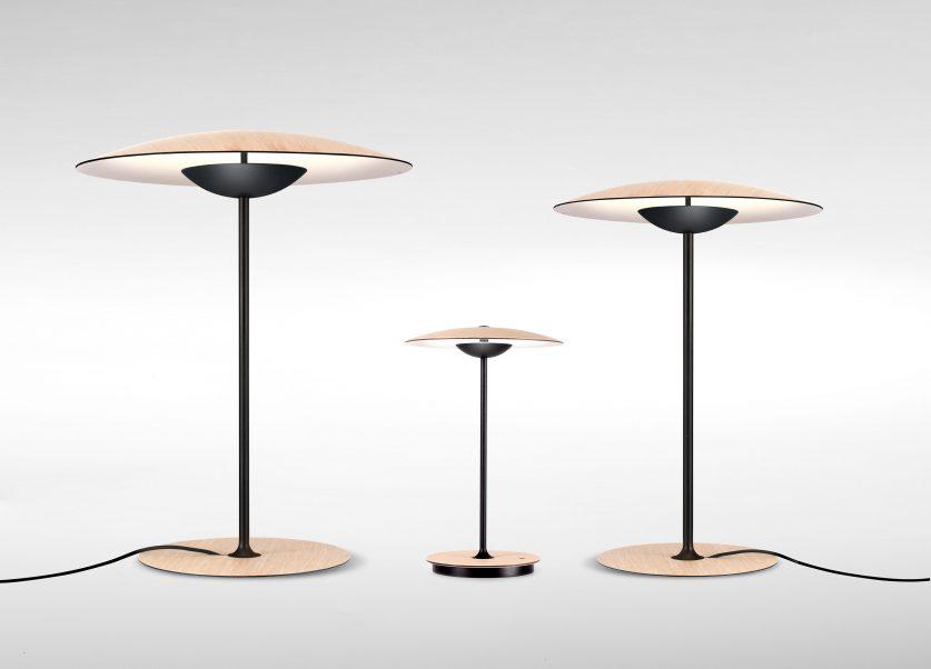 moderne Holz Tischleuchte in 3 Groessen