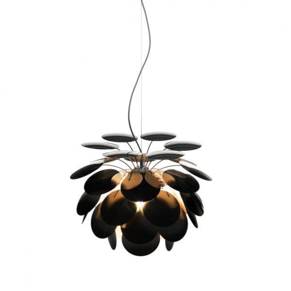 Blütenförmige hängeleuchte Schwarz gold