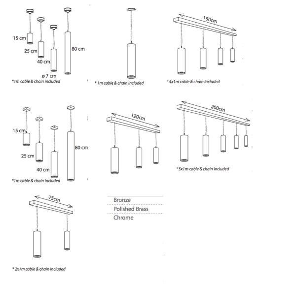 Kücheninsel Hängeleuchte rund in verschiedenen Ausführungen