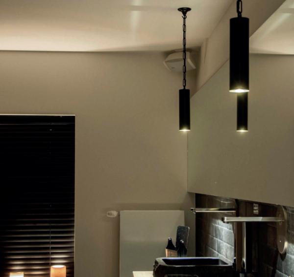 Kücheninsel Hängeleuchte rund verziert die Küche