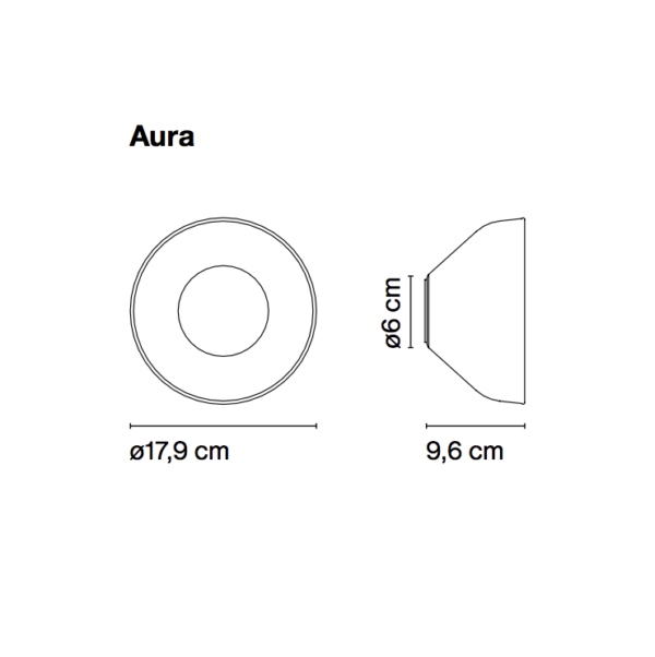 Maße der Aura Wandleuchte