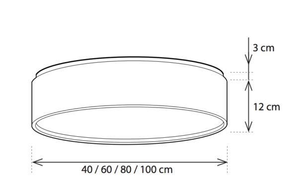 Runde Bronze Anbauleuchte verschiedene Durchmesser